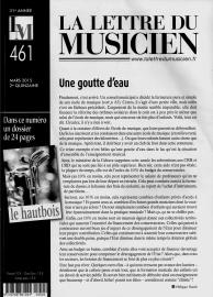 La Lettre du Musicien - Mars 2015